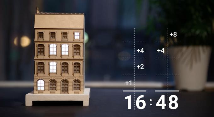 Coole binäre Uhr: The-City-Clock im Paris Design